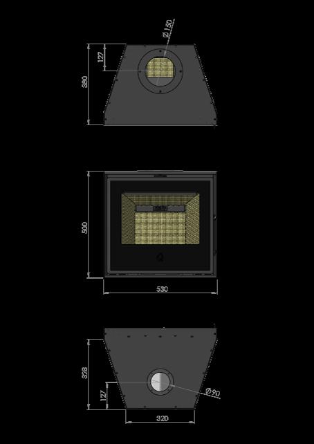 Maatschets RENY Optima-53 inzet houthaard