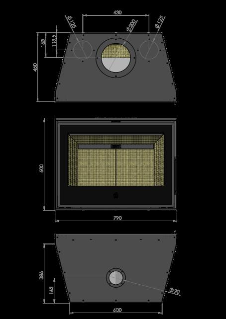 Maatschets RENY Optima-80 inzet houthaard