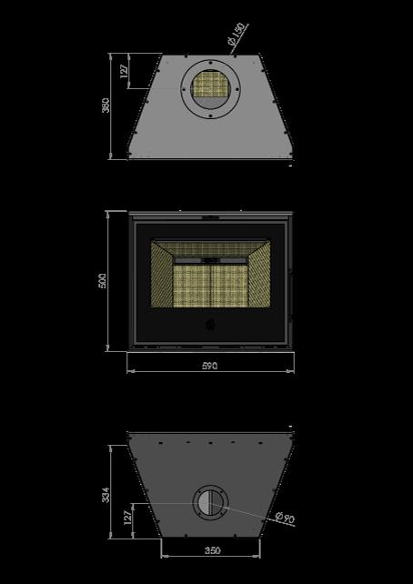 Maatschets RENY Optima-60 inzet houthaard