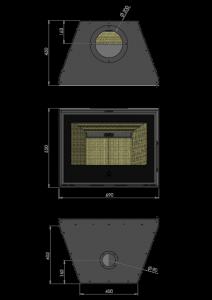 Maatschets RENY Optima-70 inzet houthaard